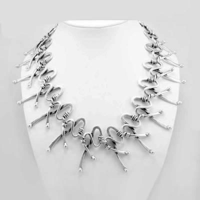 Turkish zamak necklace.