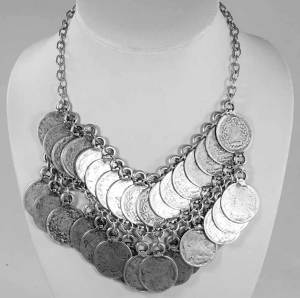 full coin necklace