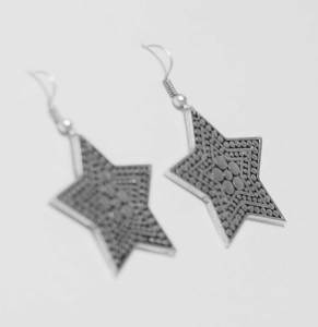 Silver star earring wholesale