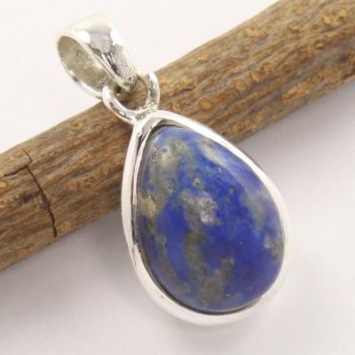 Sodalitde silver pendant