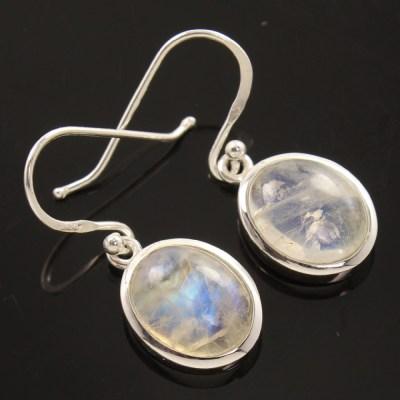 925 silver rainbow moonstone earrings.