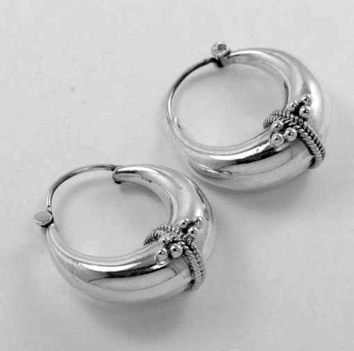 Solid 925 Silver Earrings