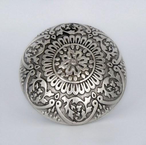 Half dome design silver ring