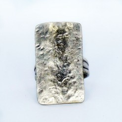wholesale small silver rectangle ring