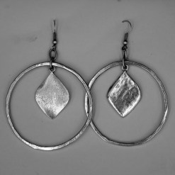 circle leaf earring