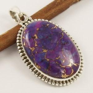 Purple copper turquoie pendant