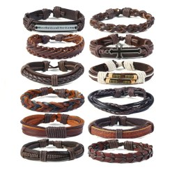 12 leather wholesale bracelets