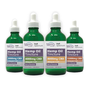 Terra Holistics Full Spectrum CBD Tincture 4 mg Strengths 120ml