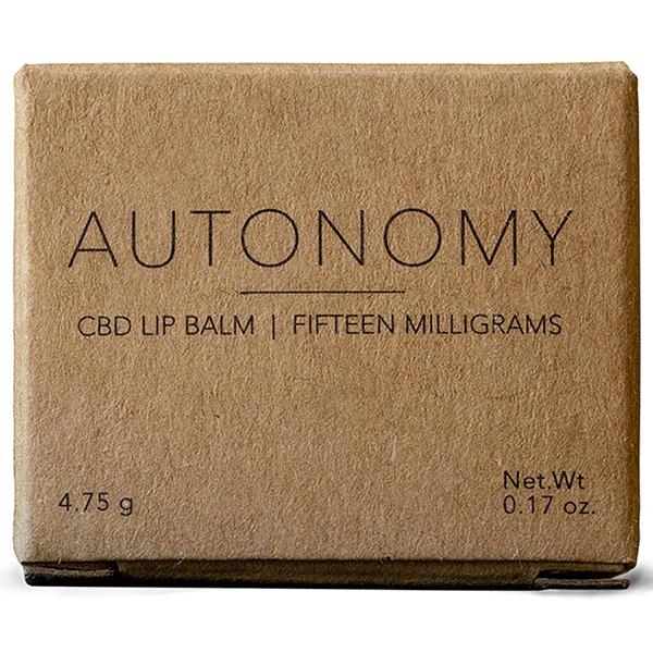 Autonomy CBD Lip Balm Box Front