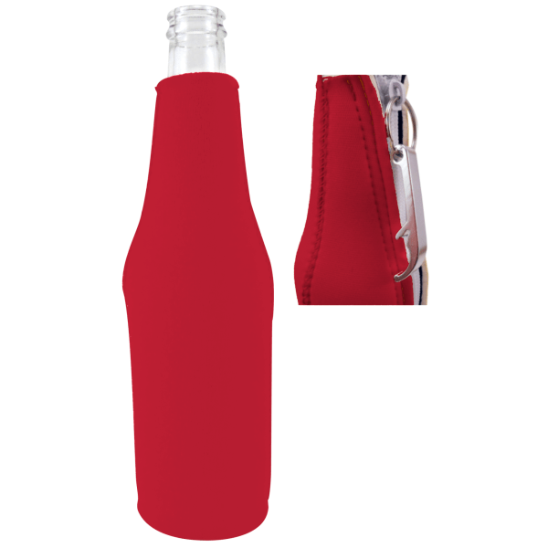 Blank Bottle Koozie With Opener