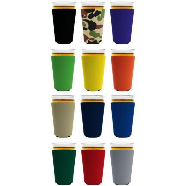 Blank Neoprene Pint Glass Coolies Various Colors 12 pack