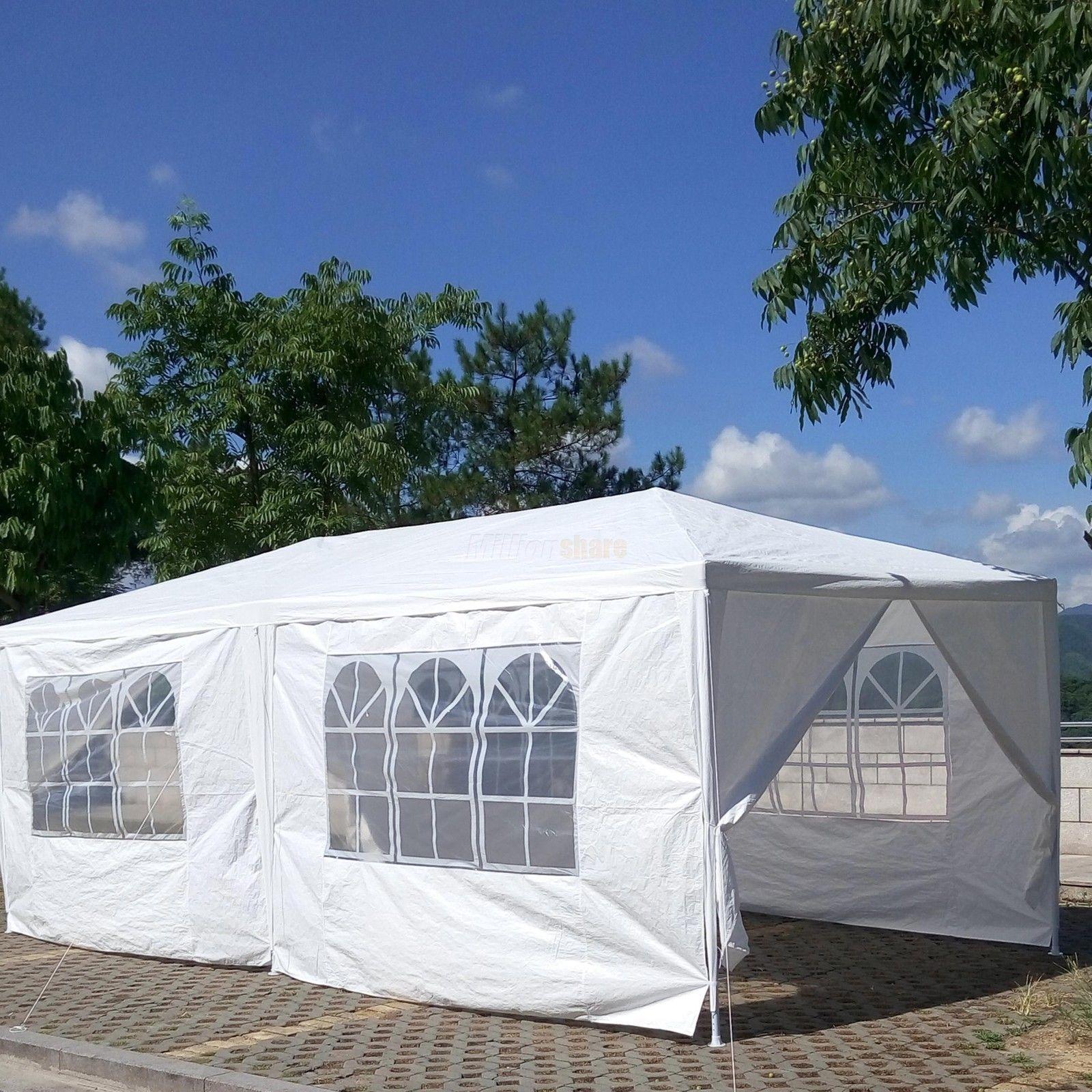 10 X 20 White Party Tent Canopy Gazebo