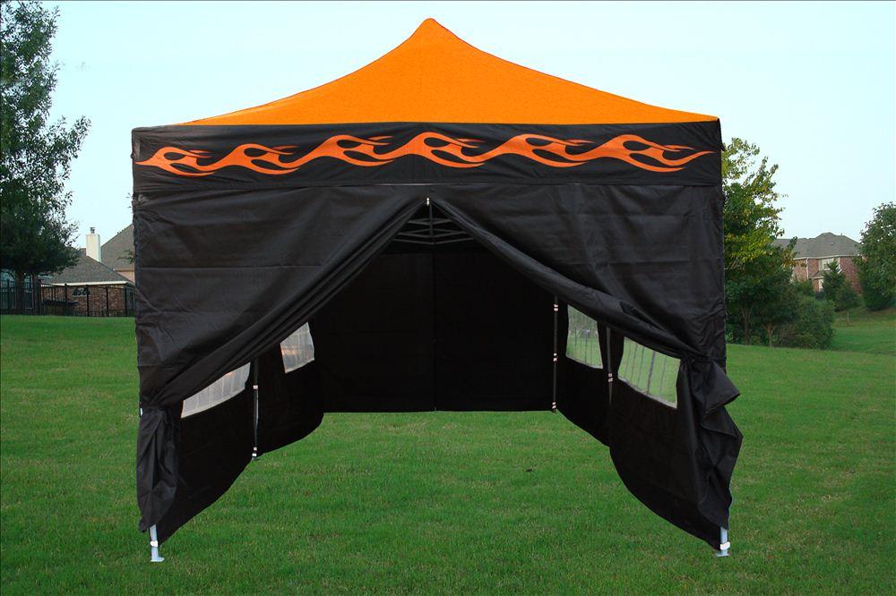 10 X 20 Orange Flame Pop Up Tent Canopy Gazebo