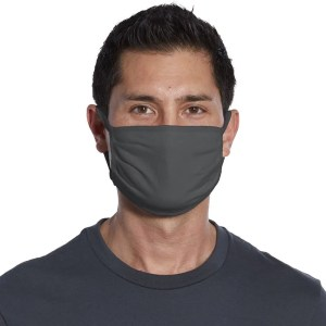 wholesale cotton face mask grey front view