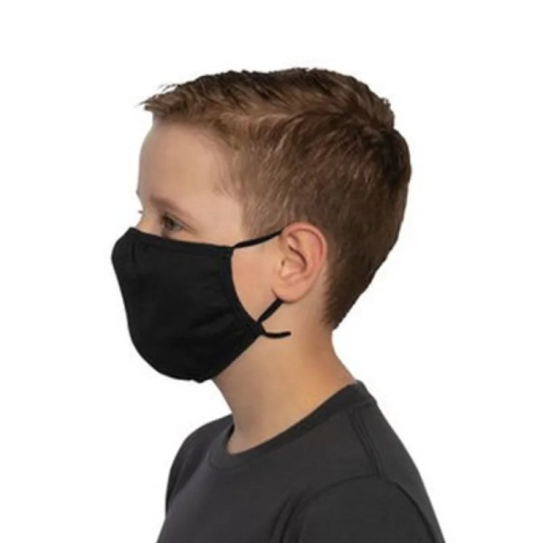 bulk youth cotton face mask side view