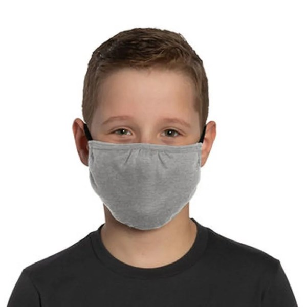 bulk kids face masks light grey