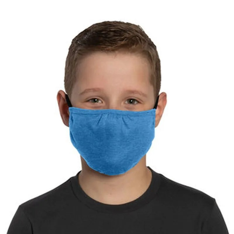 youth face mask blue