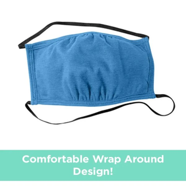 wrap around face mask blue
