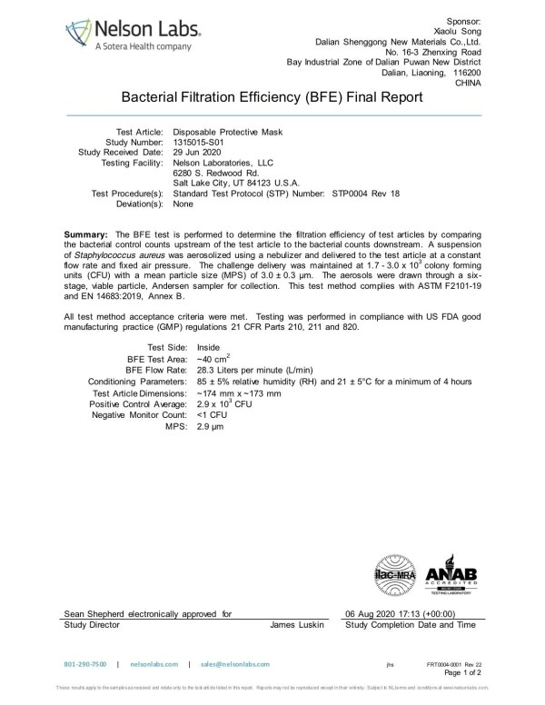 bfe test results 1