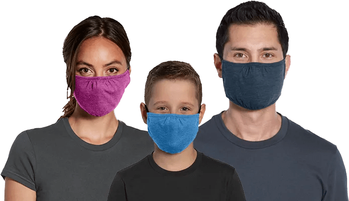 bulk cloth face mask family