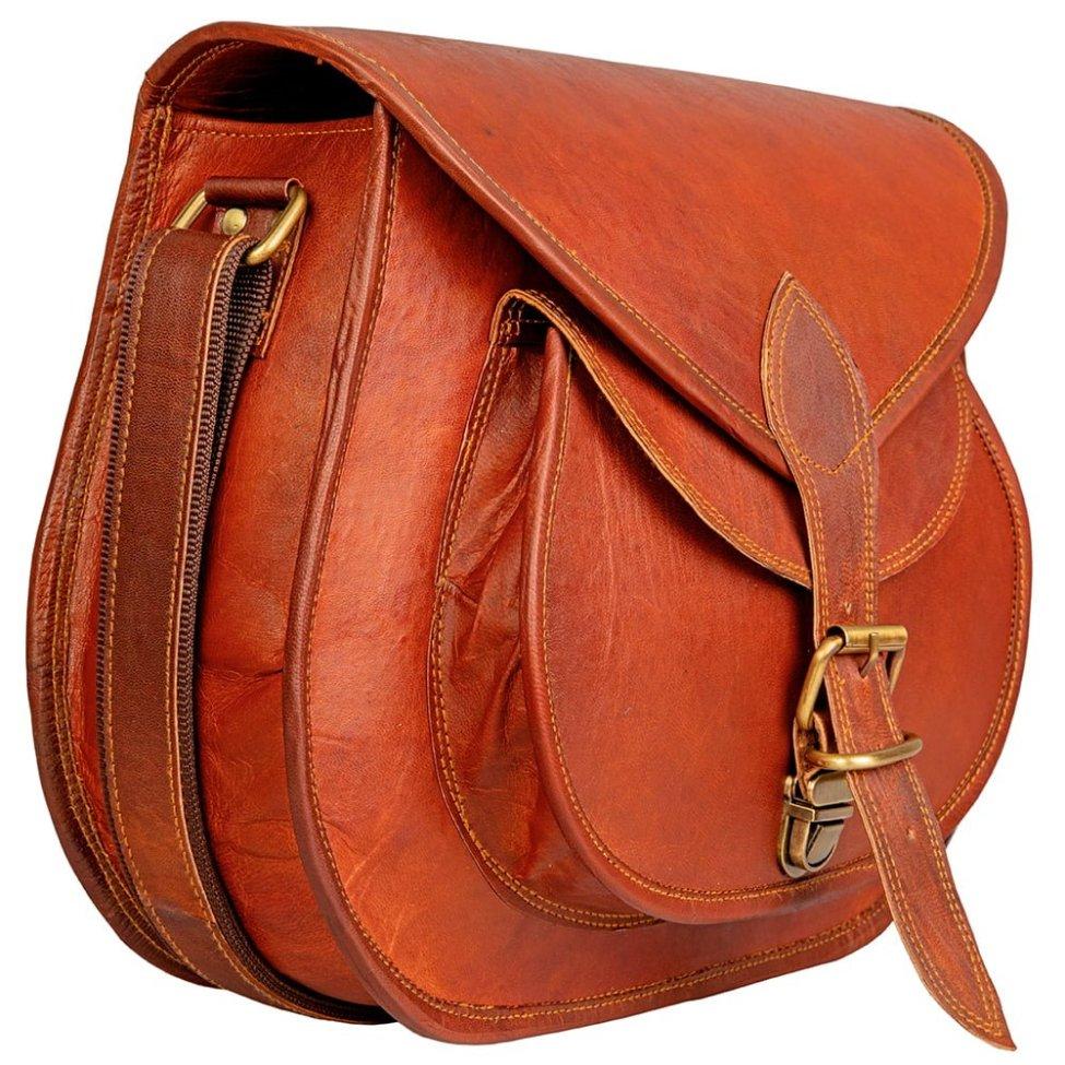 Women Leather Gypsy Purse Crossybody Bag