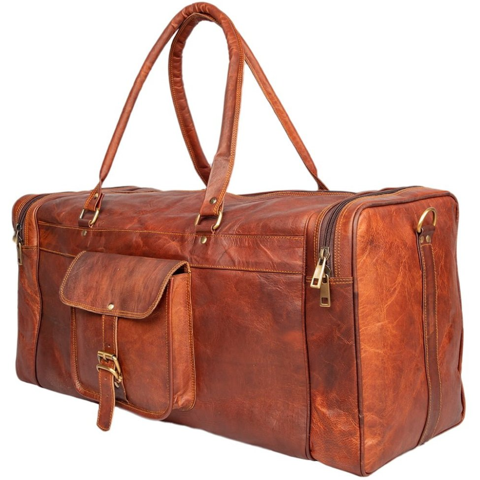 Leather Square Duffel Bag