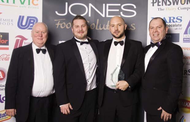 Left to right: Martin Jones (Chairman, L&F Jones), Gavin Jones (Commercial Director, L&F Jones), Gareth Morgan (Area Account Manager, RH Amar), Ray D'arcy (Managing Director, L&F Jones)