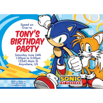 Sonic The Hedgehog Party Invitations Wholesale Party Supplies