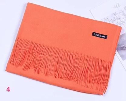 Orange Colour Cashmere Scarf