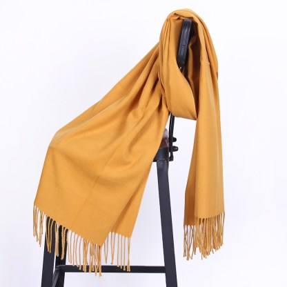 Yellow Colour Cashmere Scarf