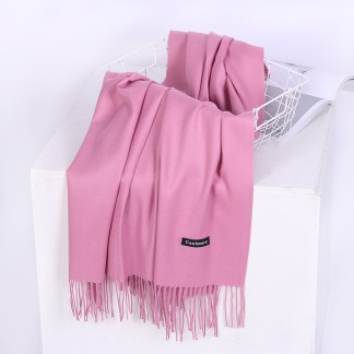 Rosewood Colour Cashmere Scarf