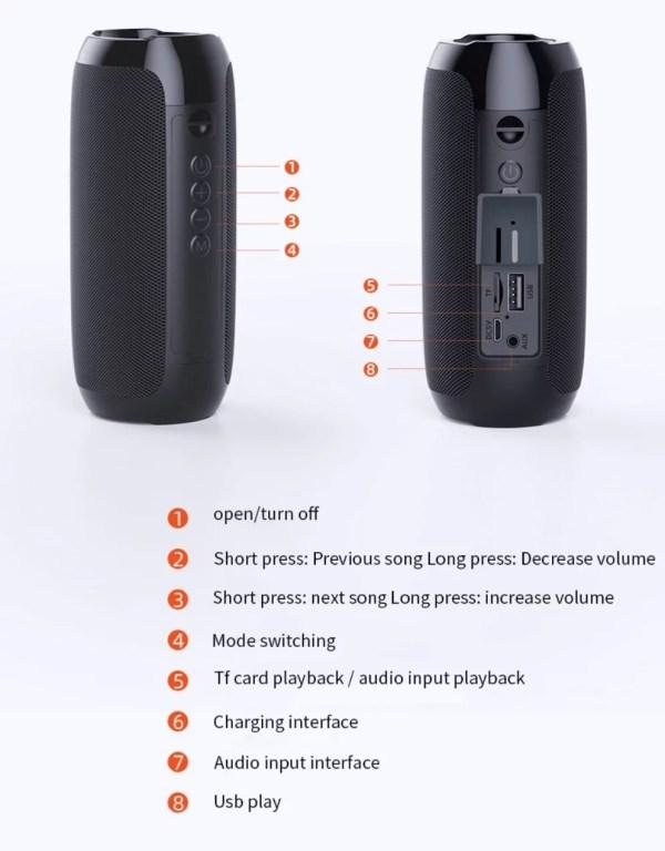 Mini Bluetooth speaker - subwoofer - Aux Cable - bass - Wholesale Products Pro