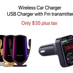 WIRELESS CHARGER WITH FM TRANSMITTER BUNDLE OFFER - Wholesale Products Pro