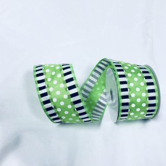 white black and lime green ribbon