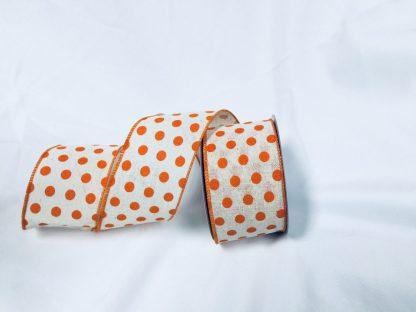 orange and ivory ribbon