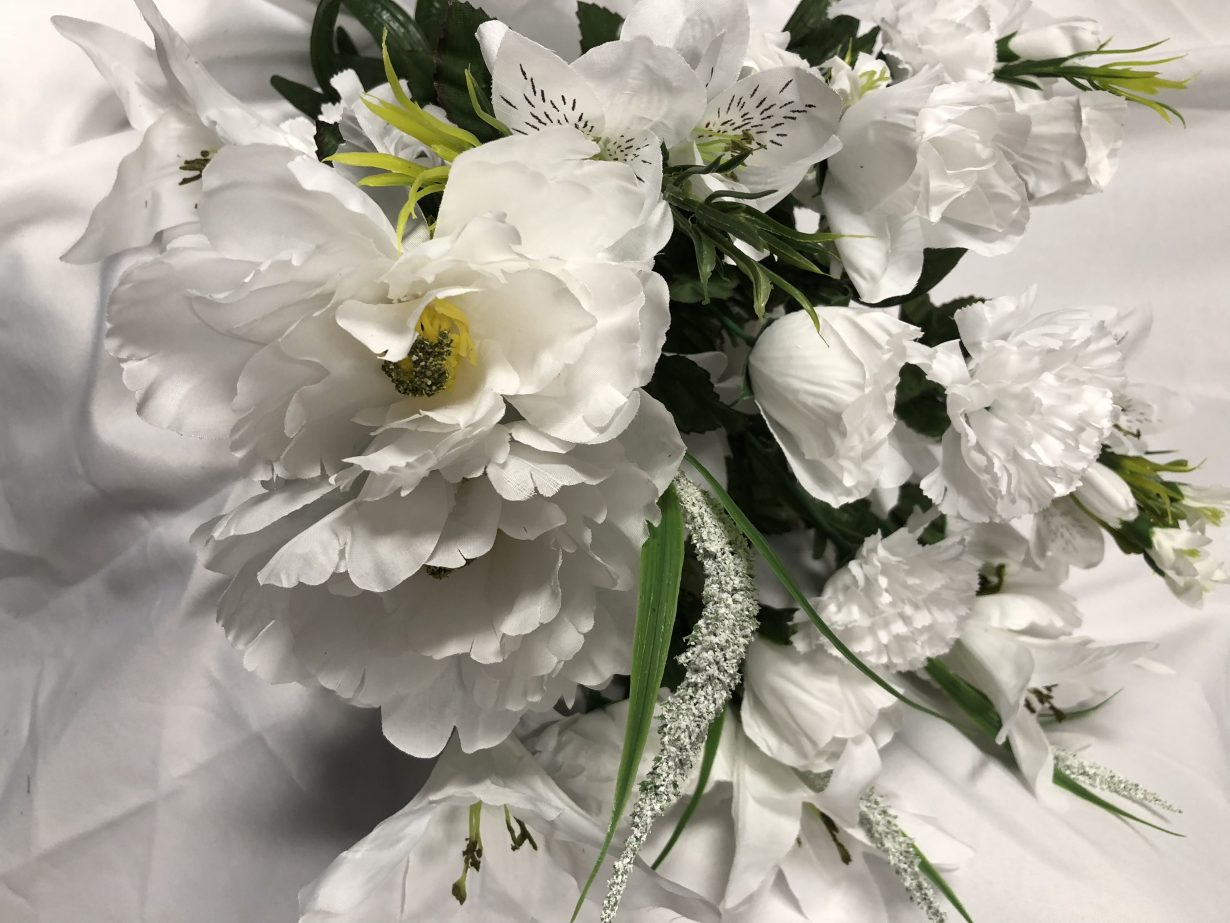 White Mixed Bush Of Peonies And Lilies Wholesale South