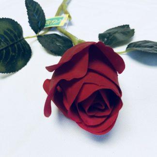 Silk flowers wholesale south red rose bud stem mightylinksfo