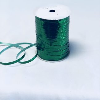 emerald green holographic curling ribbon
