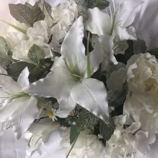 mixed white floral bush