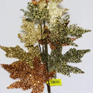 Glitter Maple Leaf Spray