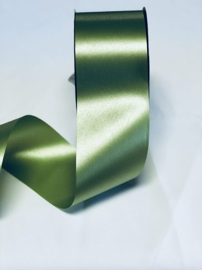 Leaf Green Waterproof Satin Ribbon