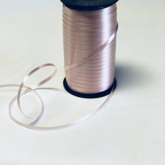 pale pink curling ribbon