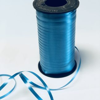 turquoise curling ribbon