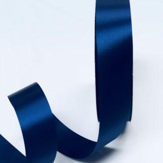 narrow navy blue satin acetate ribbon