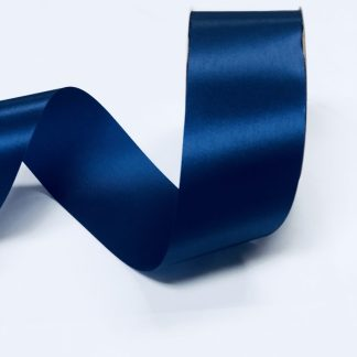 navy blue satin acetate ribbon