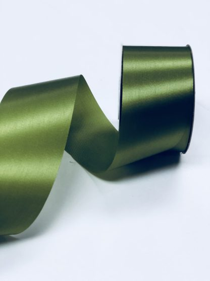moss green satin acetate ribbon