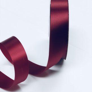 narrow burgundy satin acetate ribbon