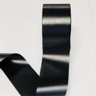 Black Waterproof Satin Ribbon