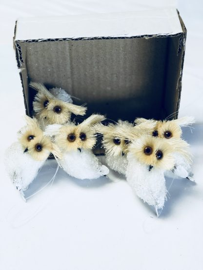 mini sisal owl ornaments