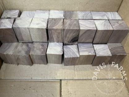 Raw walnut blocks